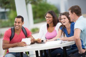 いろんな人種の留学生
